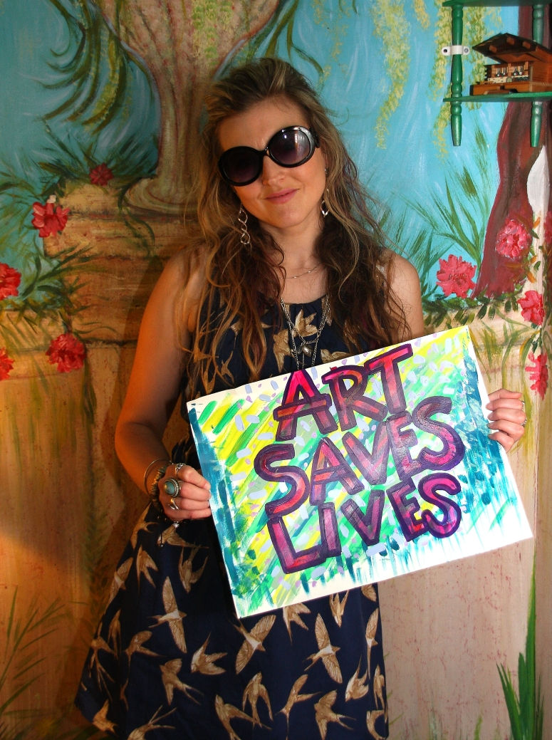 Lisa -  Art Saves Lives International - Launch Night for the Bursledon House Project and Exhibition