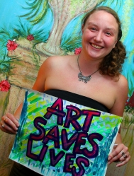 Becky - Art Saves Lives International - Launch Night for the Bursledon House Project and Exhibition
