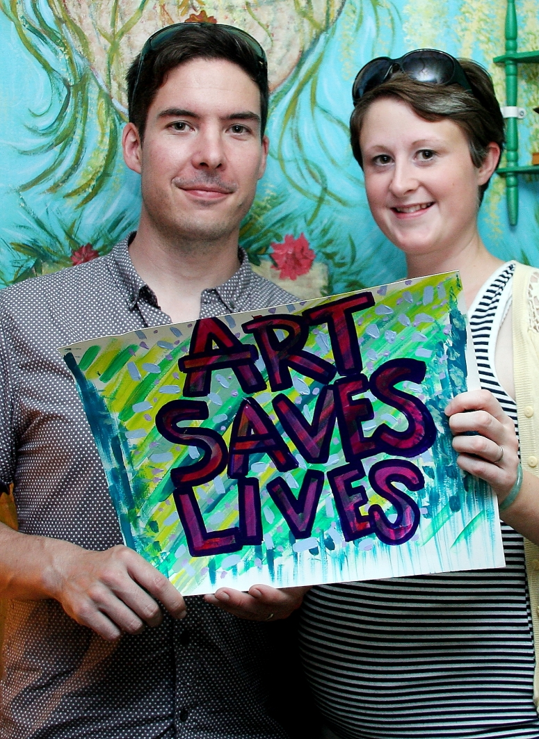Matthew and Ann -  Art Saves Lives International - Launch Night for the Bursledon House Project and Exhibition