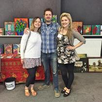 Lisa Reeve with two supporters of ASLI Photography By Lisa Reeve