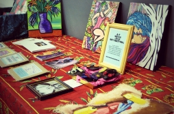 The ASLI donated art stall Photography By Iain Turrell