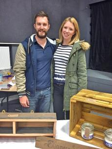 Stall holder Paul Brian and girlfriend Kimberly Owen of Southsea Shabby Geek Photography By Lisa Reeve