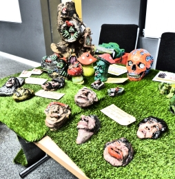 Lawn of the Dead UK Stall held by artist James Waterfield Photography By Iain Turrell